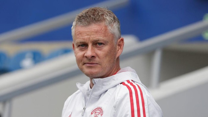 LONDON, ENGLAND - JULY 24: Manchester United manager Ole Gunnar Solskjær before the pre-season friendly match between Queens Park Rangers and Manchester United at The Kiyan Prince Foundation Stadium on July 24, 2021 in London, England. (Photo by Henry Browne/Getty Images)