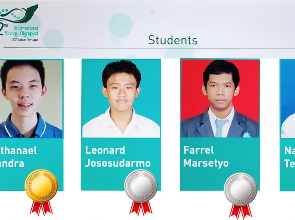 4 Siswa Indonesia Raih Medali Olimpiade Biologi Internasional 2021 Portugal