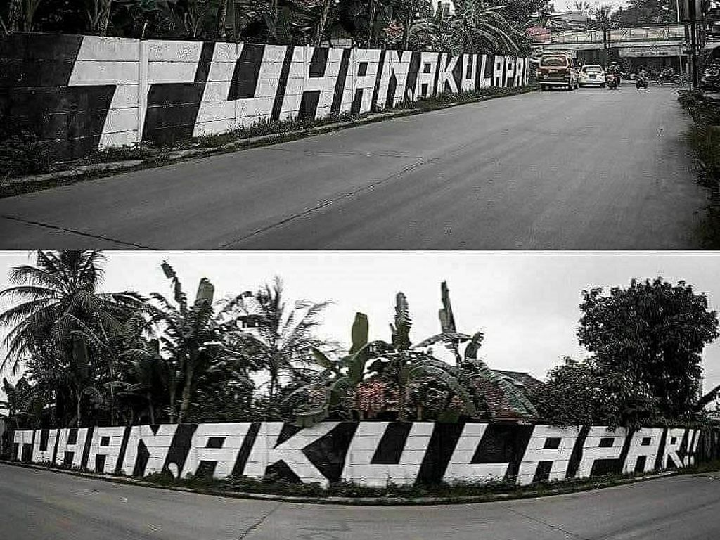 Viral Grafiti Tuhan Aku Lapar di Tangerang Dihapus, Ini Kata Polisi