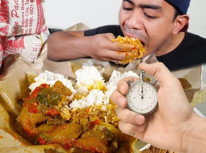 meme makan di warteg 20 menit