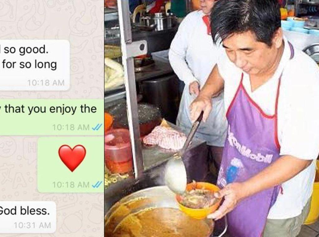 Mulia! Penjual Makanan Ini Kirim Makanan Gratis untuk Pelanggan yang Tak Mampu Beli
