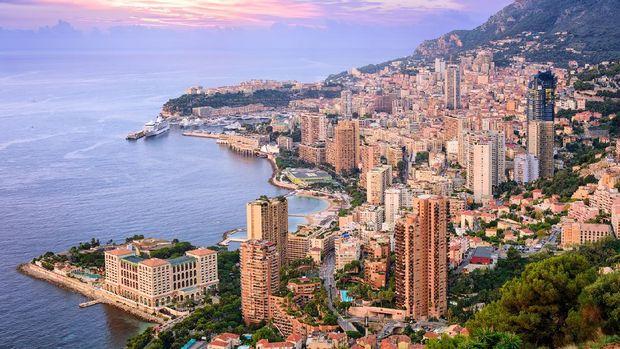 View of  Principality of Monaco at sunrise
