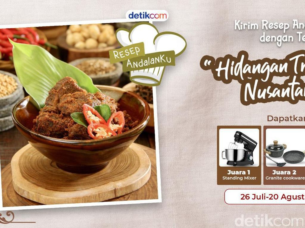 Ini Dia 3 Pemenang Resep Hidangan Tradisional Nusantara