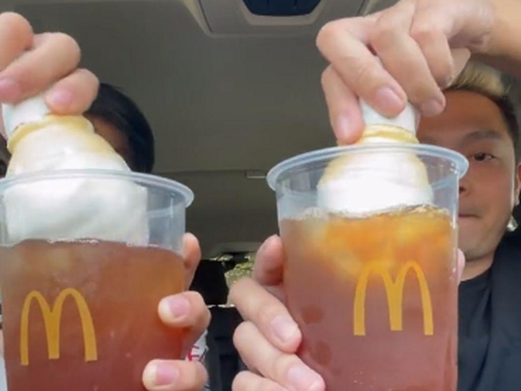 Tips Bikin Es Krim dan Es Teh McD Lebih Enak, Tambahkan Bahan Ini!
