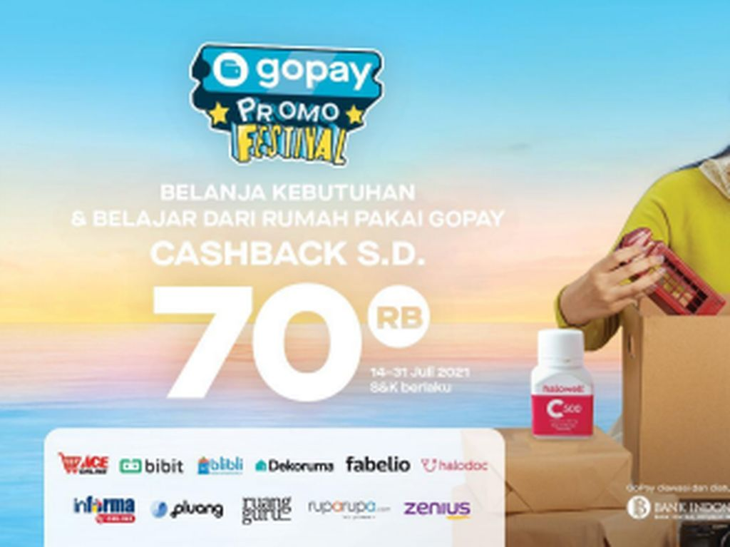 GoPay Beri Cashback Rp 70 Ribu untuk Belanja Online Sampai 31 Juli