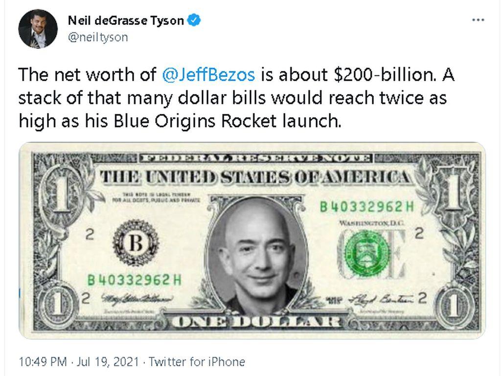 Hitung-hitungan Harta Jeff Bezos oleh Seorang Fisikawan