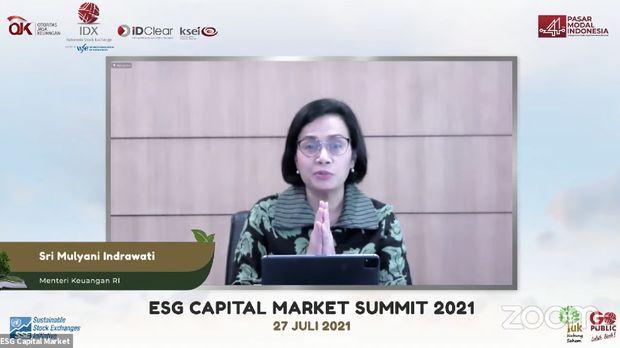 Sri Mulyani dalam acara ESG Capital Market Summit 2021. (Dok: Youtube Indonesia Stock Exchange)