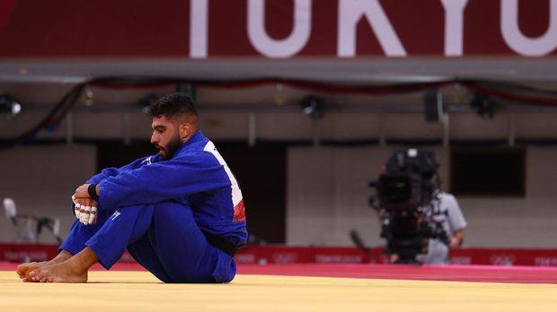 Tokyo 2020 Olympics - Judo - Men's 73kg - Repechage Round - Nippon Budokan - Tokyo, Japan - July 26, 2021. Tohar Butbul of Israel reacts after losing REUTERS/Sergio Perez