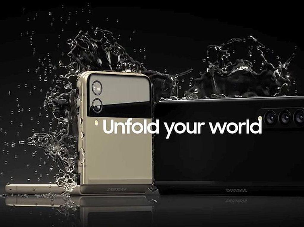 Ini Bukti Galaxy Z Fold 3 dan Flip 3 Tahan Air