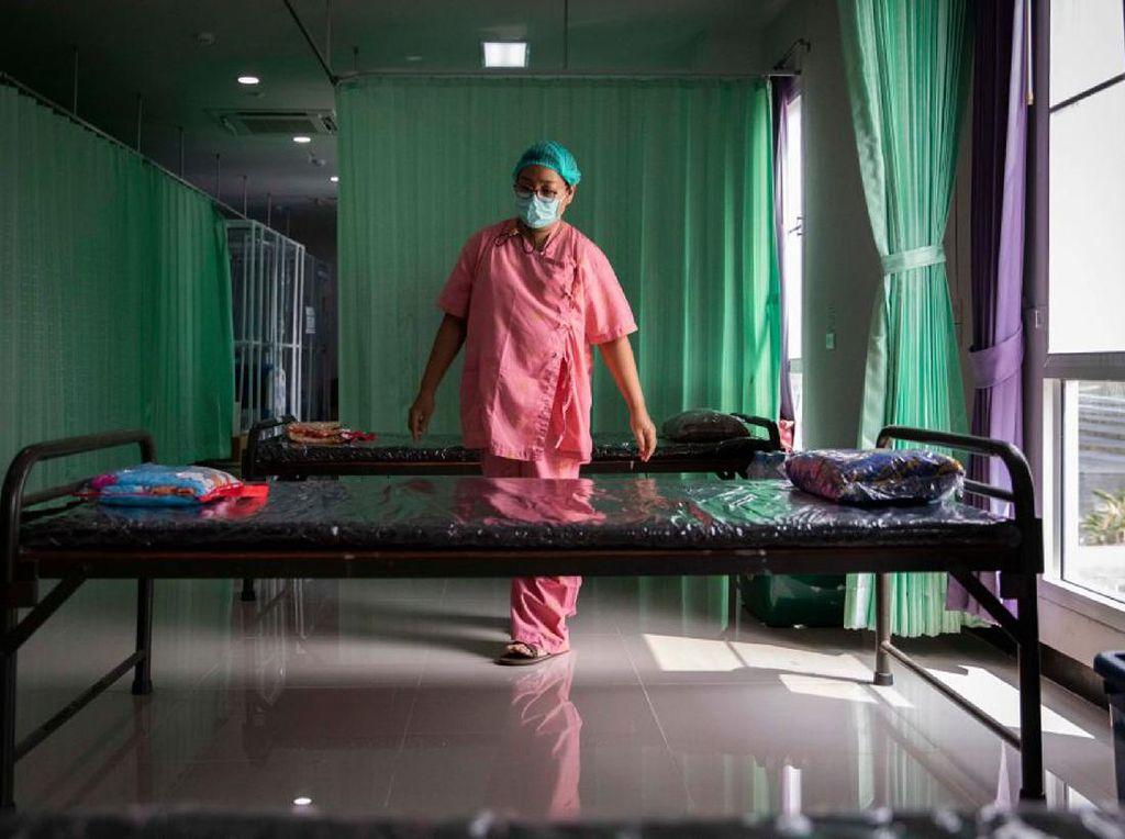 Corona Menggila, Hunian Bed Pasien COVID-19-ICU di Thailand Membludak