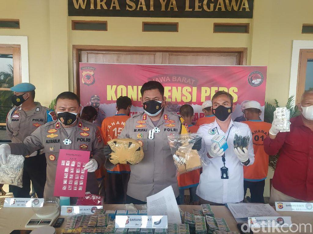 3 Pengedar Narkoba Ditangkap di Cianjur, 642 Gram Ganja Disita