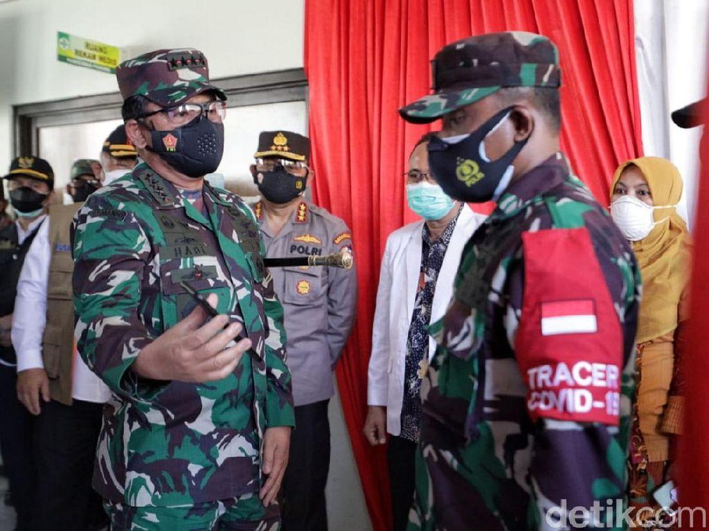 Panglima TNI Cek Penerapan Silacak di Sidoarjo dan Kabupaten Malang