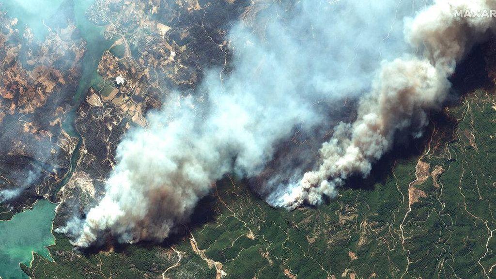 Potret Dahsyatnya Kebakaran Hutan di Turki