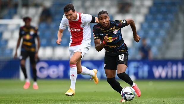 Laga pramusim antara Ajax Amsterdam vs RB Leipzig berlangsung di Grodig, Austria, pada Sabtu (31/7/2021).