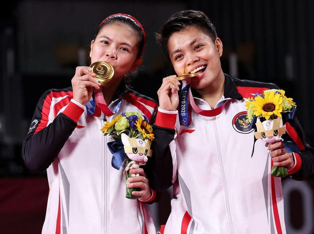 Greysia/Apriyani Raih Emas, Indonesia Naik Peringkat di Klasemen Medali