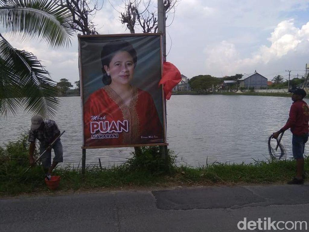 Banner Puan Maharani Hiasi Lamongan, PDIP: Bahan Sosialisasi Menuju 2024
