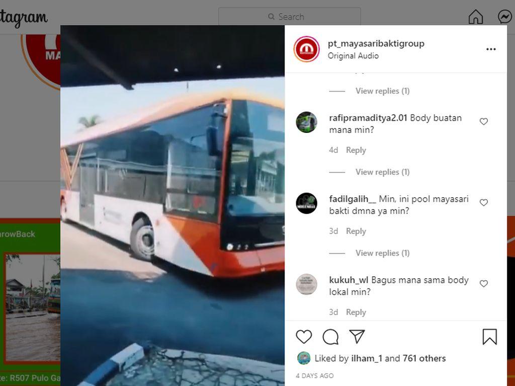 PO Mayasari Bakti Pamer Bus Listrik Buatan China, Pakai Sasis BYD K9