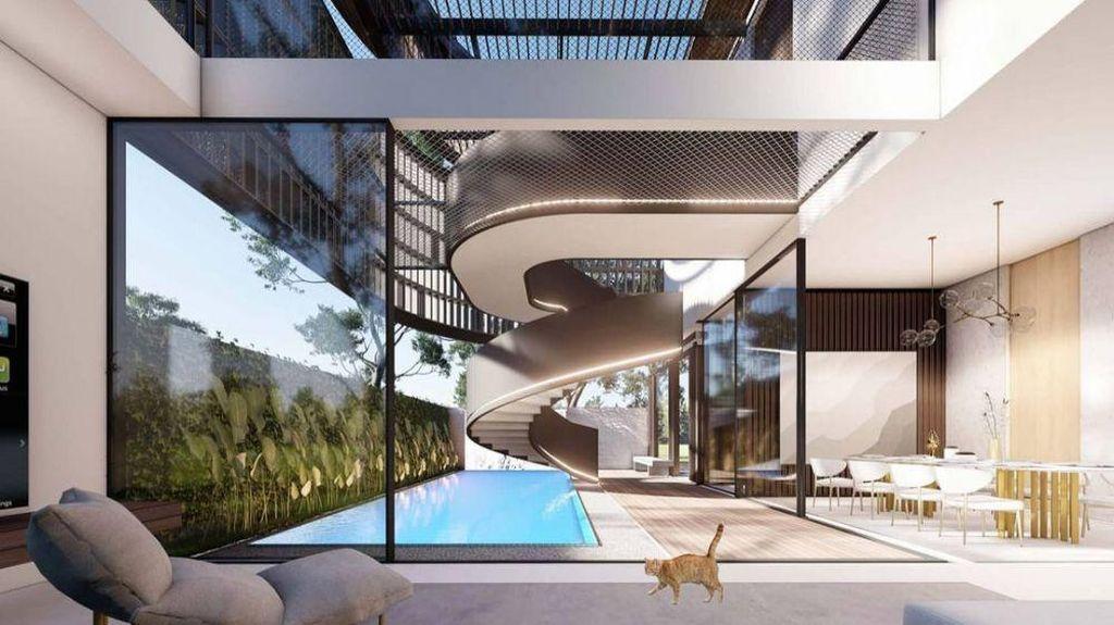 7 Desain Rumah Baru Ayu Ting Ting, Arsitekturnya Unik dan Mewah