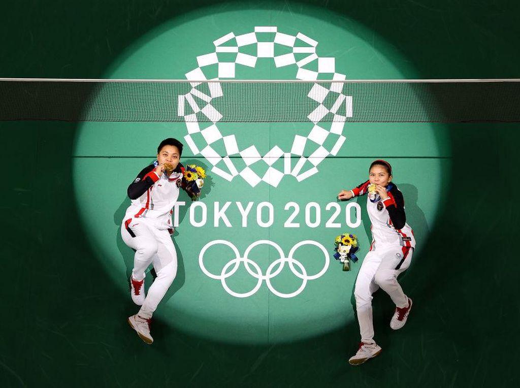 Greysia/Apriyani Raih Emas di Olimpiade Tokyo, Sri Mulyani Ikut Nangis