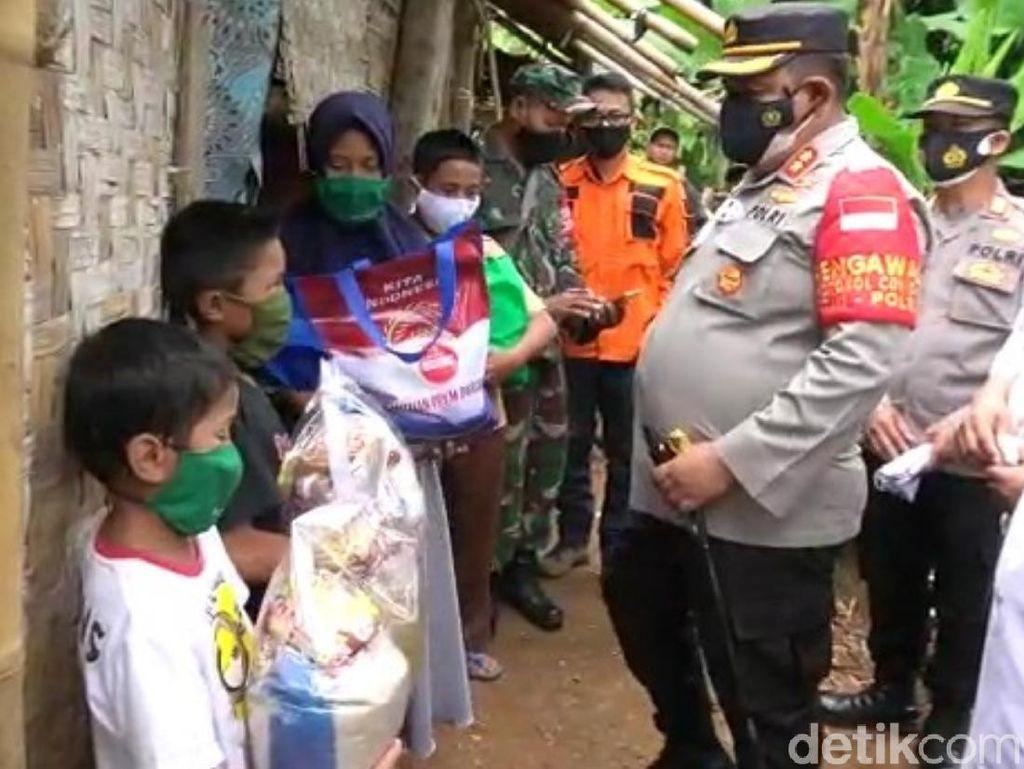 Bantuan Mengalir untuk Keluarga Miskin Jarang Makan Nasi di Cianjur