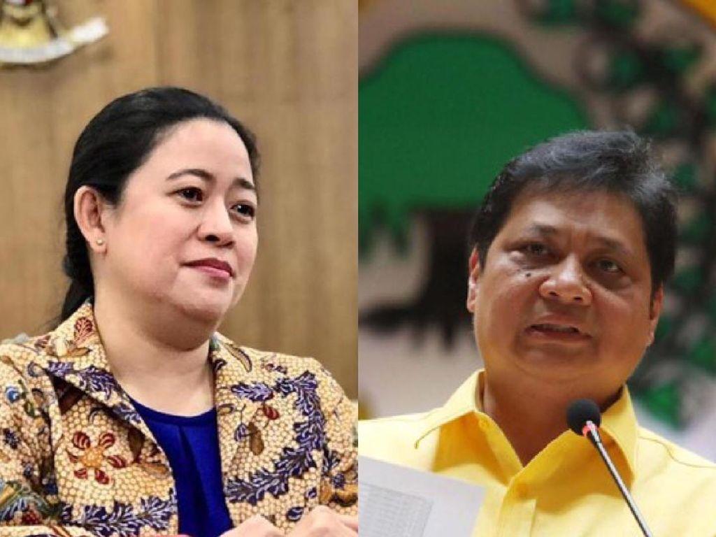 Perbandingan Golkar Pasang Baliho Airlangga Vs PDIP Baliho Puan