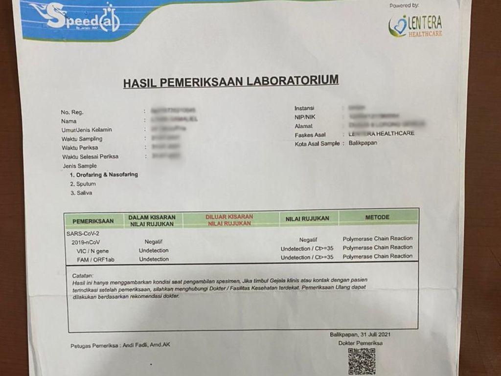 Klarifikasi Klinik di Balikpapan di Kasus Surat PCR Palsu