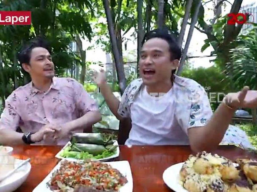 Bikin Laper! Anwar dan Thomas Djorghi Lahap Nasi Bakar Tuna Sedap