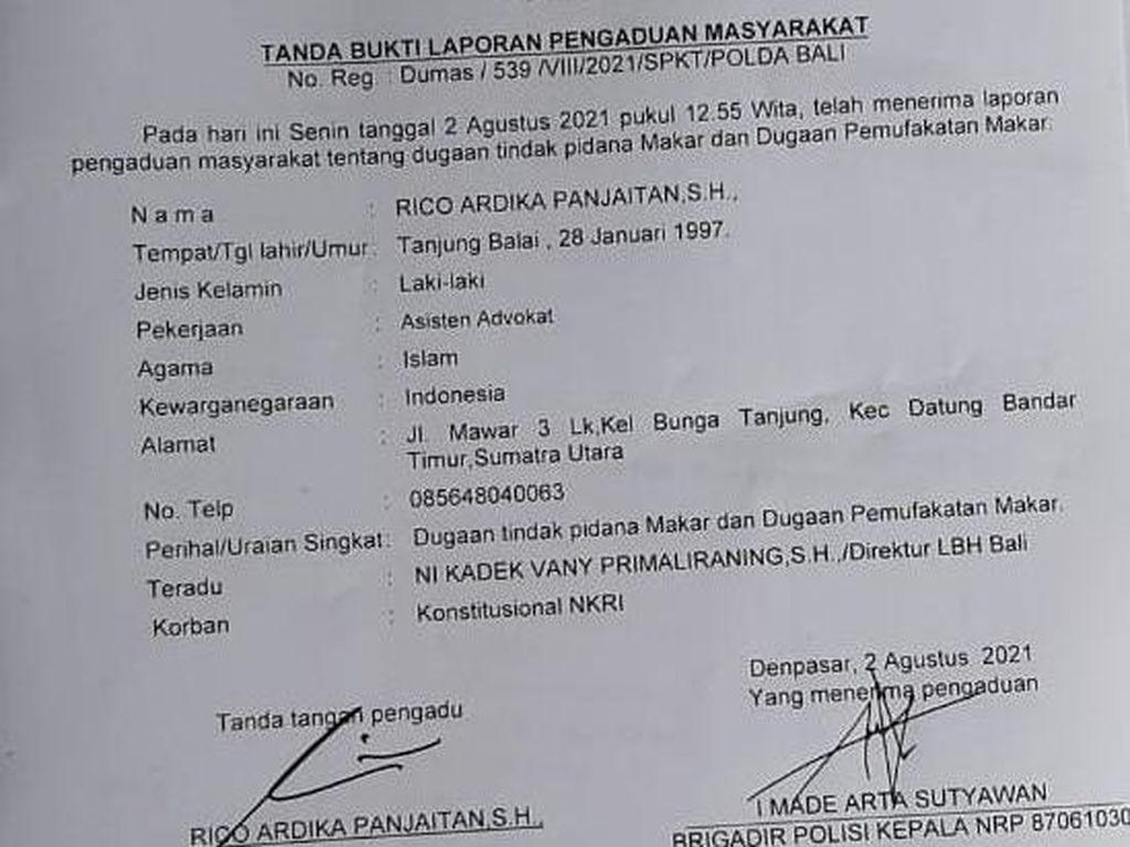 Direktur LBH-4 Mahasiswa Papua di Bali Dipolisikan atas Dugaan Makar