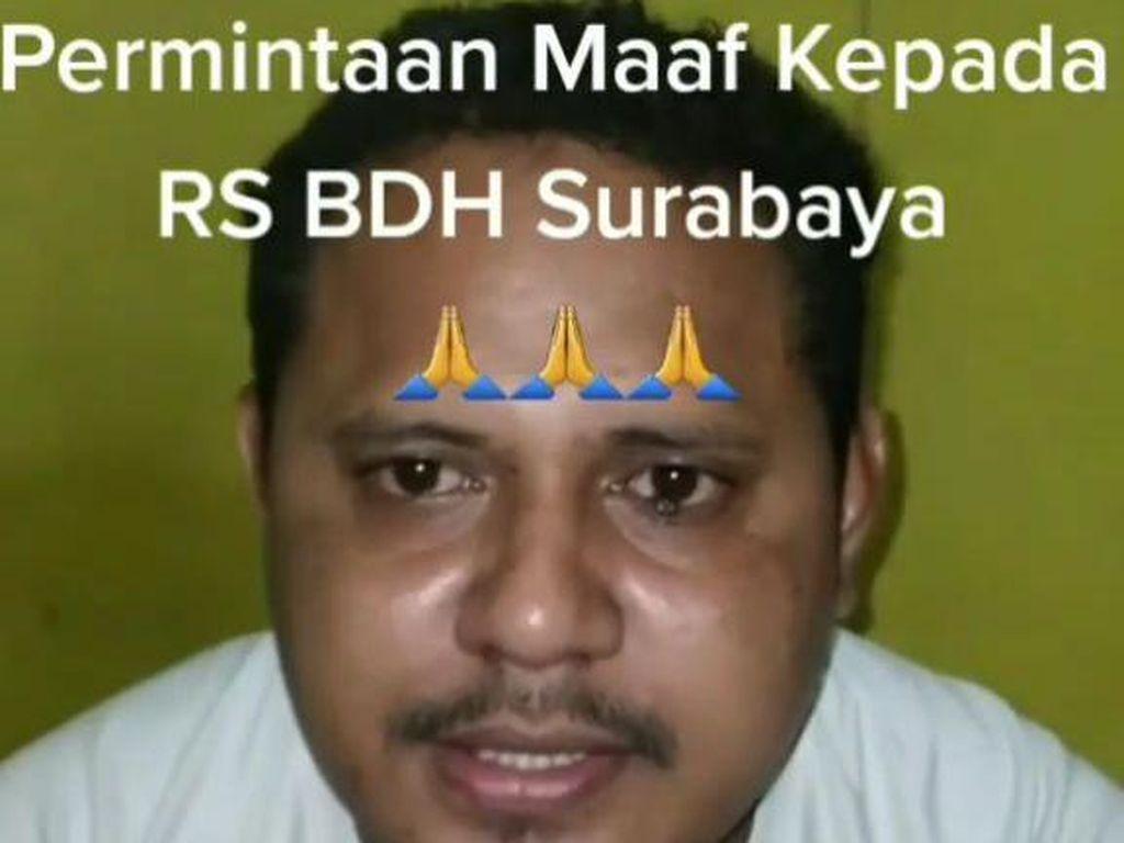 Pengunggah Video Viral Intimidasi Nakes RSUD BDH Surabaya Minta Maaf