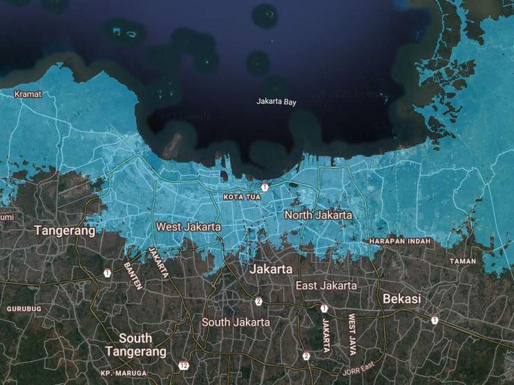 Seperti Ini Proyeksi Jakarta Tenggelam Tahun 2030