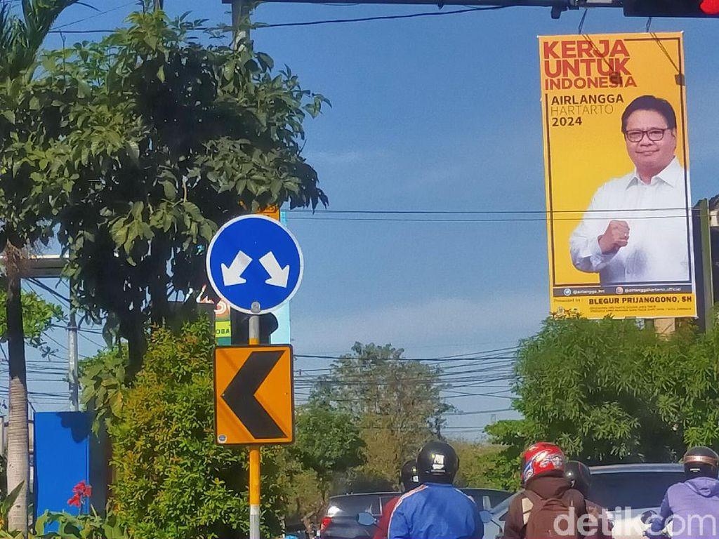 Golkar Surabaya Ngaku Pasang Baliho Airlangga Hartarto dengan Biaya Swadaya