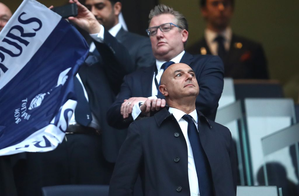 LONDON, ENGLAND - APRIL 30: Spurs chairman Daniel Levy looks on prior to the UEFA Champions League Semi Final first leg match between Tottenham Hotspur and Ajax at at the Tottenham Hotspur Stadium on April 30, 2019 in London, England. (Photo by Julian Finney/Getty Images)