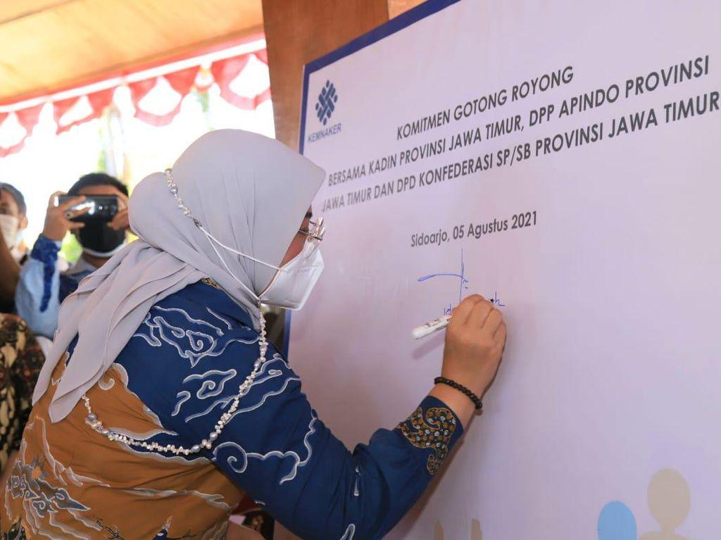 Ini 6 Poin Deklarasi Gotong Royong Kemnaker & Stakeholders Se-Jatim