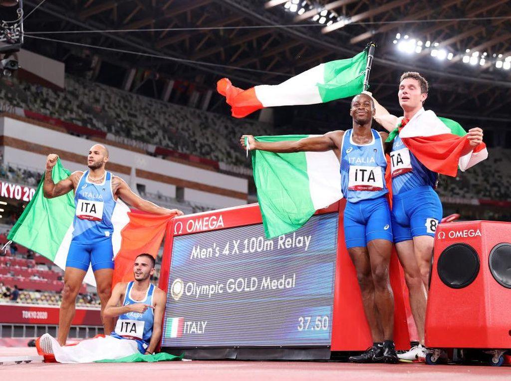 Italia Kalahkan Inggris Lagi, Kali Ini di Estafet 4x100 M Putra Olimpiade