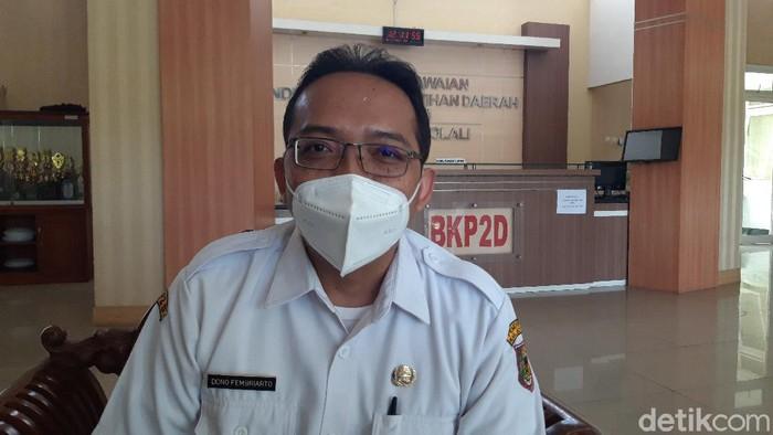 Kabid Penataan dan Pengembangan Karir, Badan Kepegawaian, Pendidikan, dan Pelantikan Daerah (BKP2D) Boyolali, Dono Fembriarto.