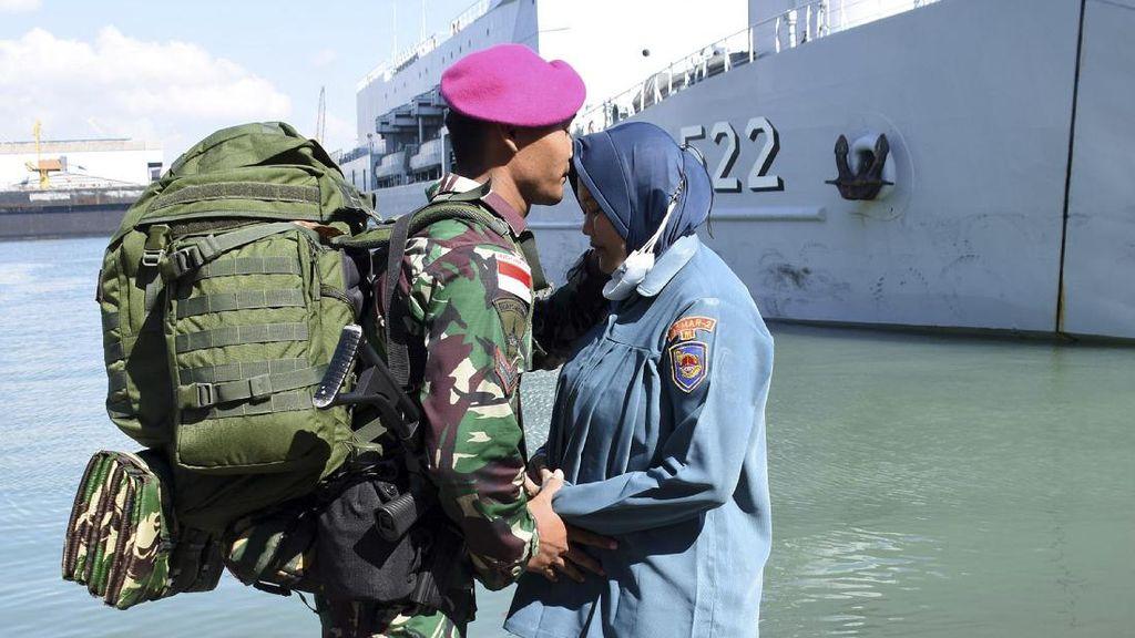 Kala Prajurit Marinir Pamit Jaga Perbatasan Ke Ambalat