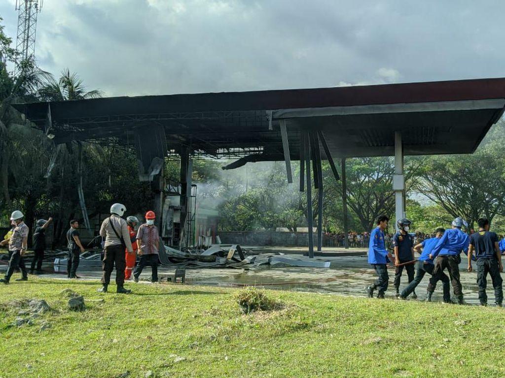 Korban Kritis-Tewas Ledakan SPBU di Pangkep Keluarga Anggota TNI Isi Bensin
