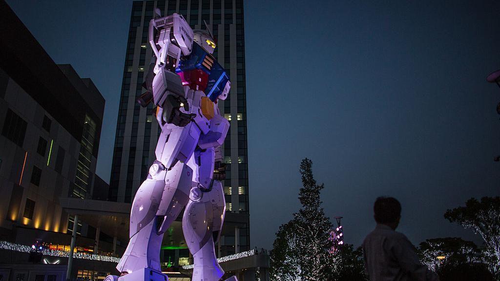 Penampakan Robot Gundam Raksasa di Jepang