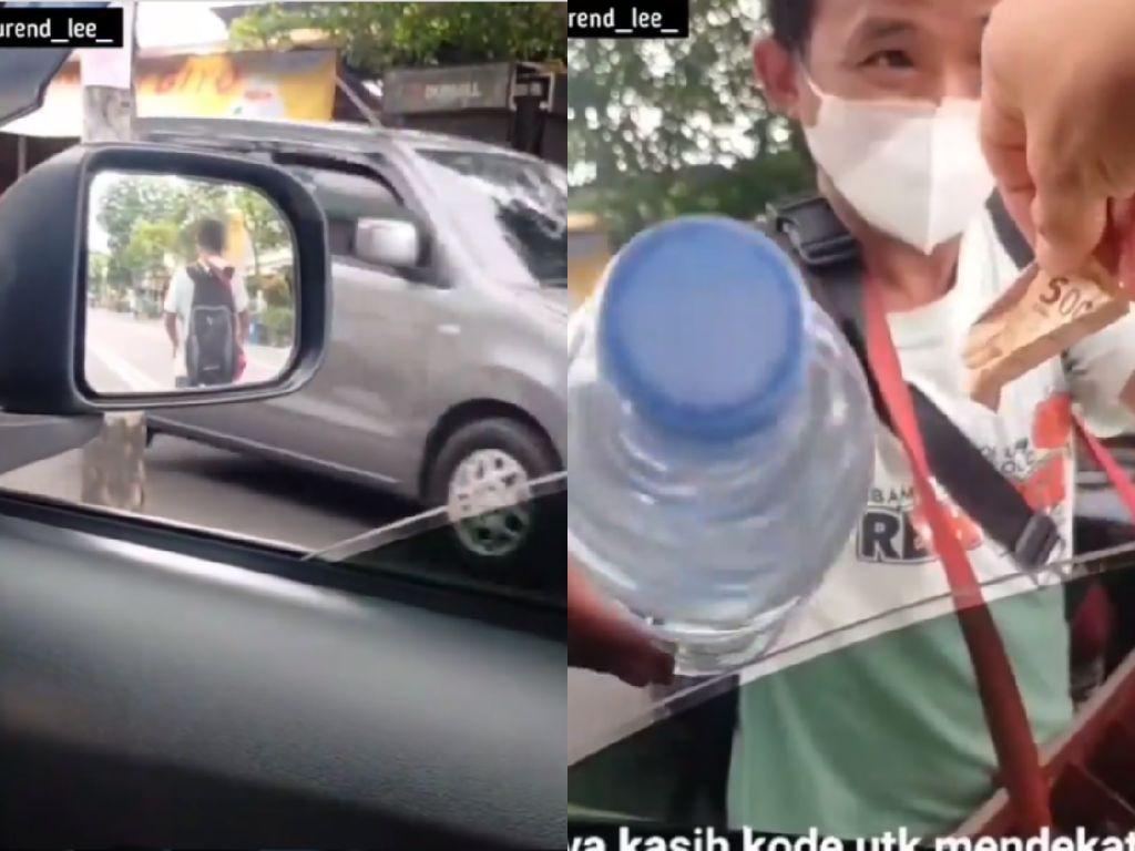 Penjual Air Minum Ini Tolak Diberi Uang Gratis, Alasannya Bikin Haru!
