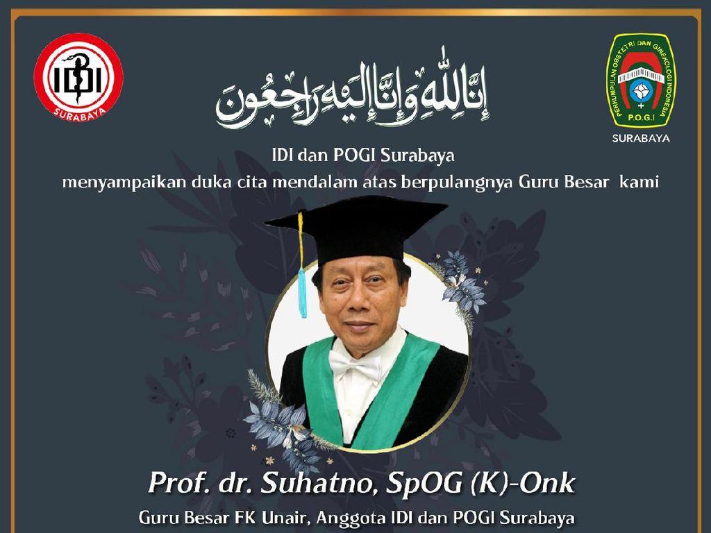 Dokter Kandungan Senior di Surabaya Meninggal Terpapar COVID-19
