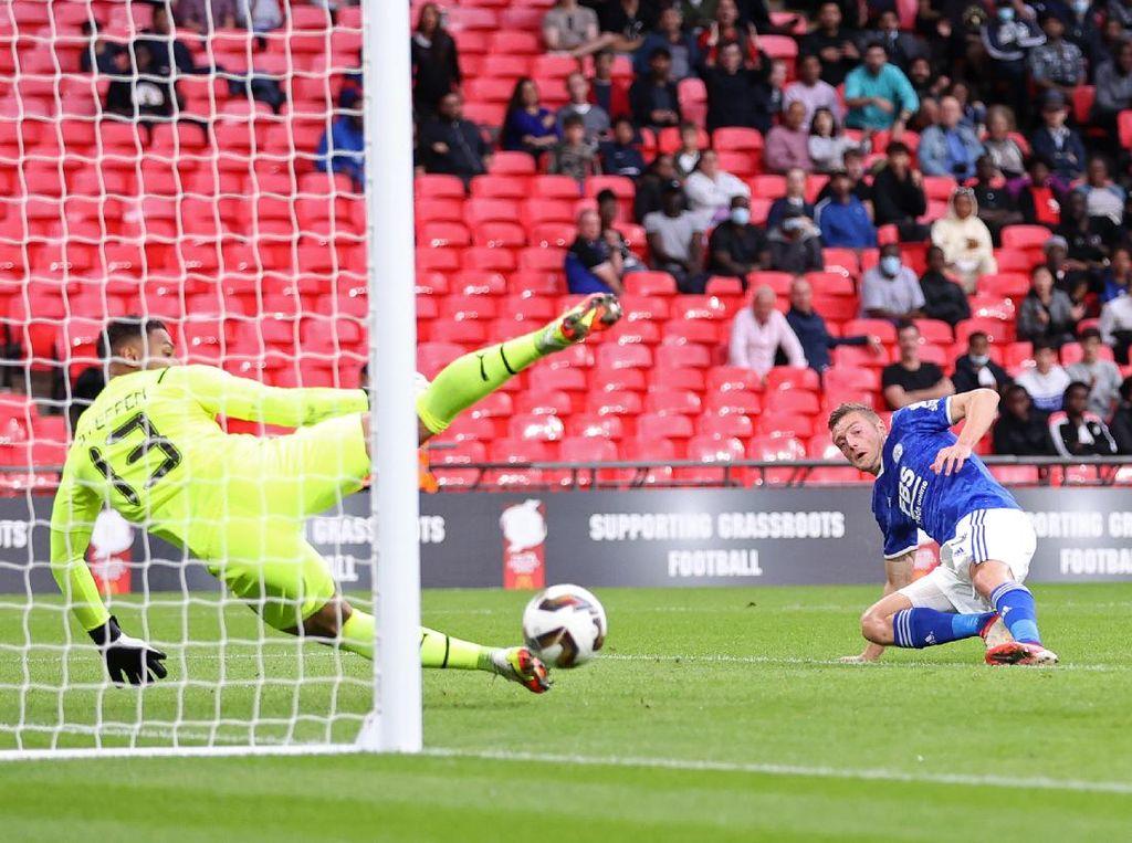 Community Shield: Leicester Vs Man City Masih 0-0 di Babak Pertama