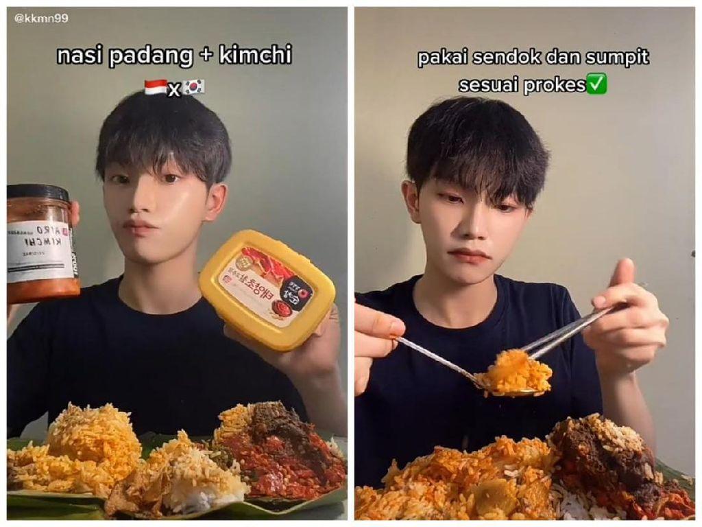 Begini Jadinya Kalau Nasi Padang Dimakan dengan Kimchi