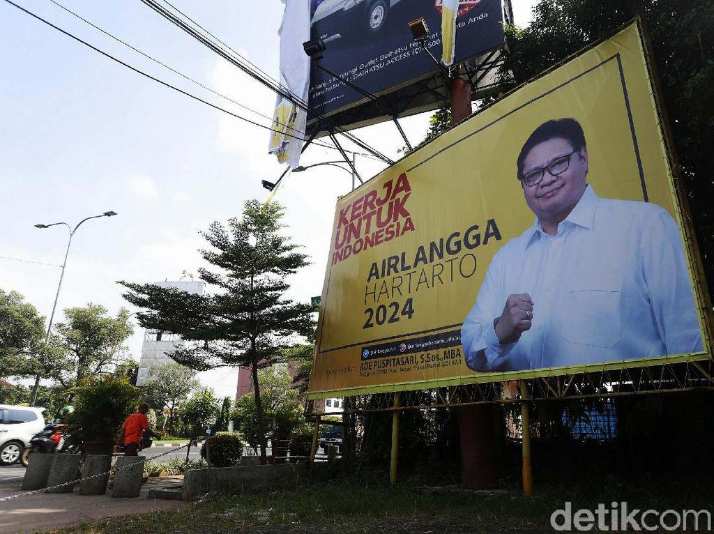 Pilpres 2024, Baliho Airlangga Penuhi Kota Bekasi