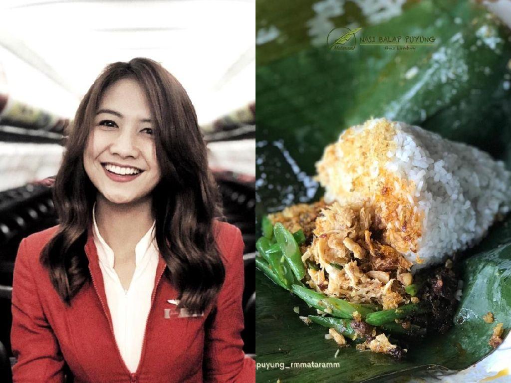 Dirumahkan karena COVID-19, Mantan Pramugari Ini Sukses Jualan Nasi Balap Puyung