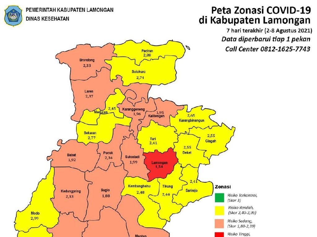 Kasus COVID-19 di Lamongan Turun Selama PPKM, BOR Tersisa 26%
