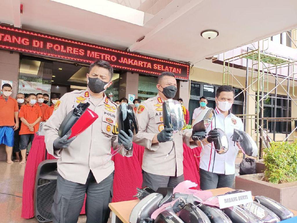 Komplotan Spesialis Pencuri Spion di Jakarta Dibekuk Usai 23 Kali Aksi!