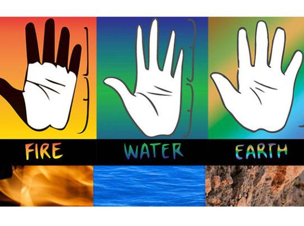 Tes Kepribadian: Jenis Tangan Api, Bumi, Udara, atau Air yang Kamu Miliki?