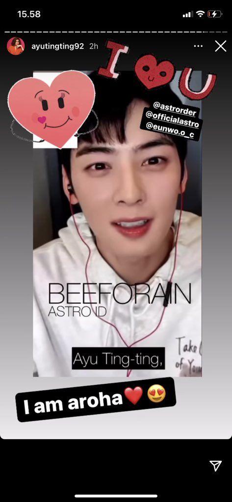 Ayu Ting Ting Di-notice Cha Eun Woo