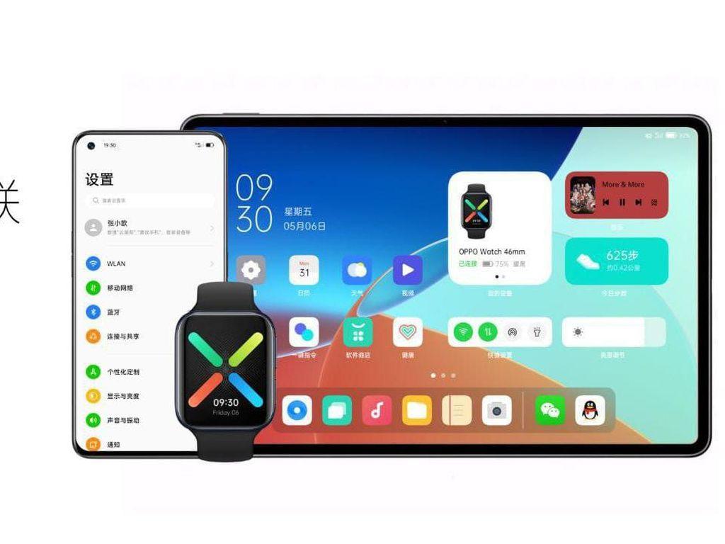 Oppo Ikutan Bikin Tablet, Jalankan ColorOS 12