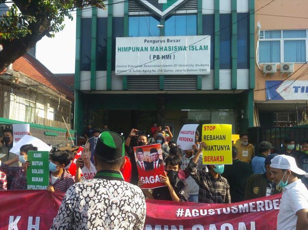 HMI Muis Demo PPKM Hari Ini, Berpusat di Gedung Sekretariat